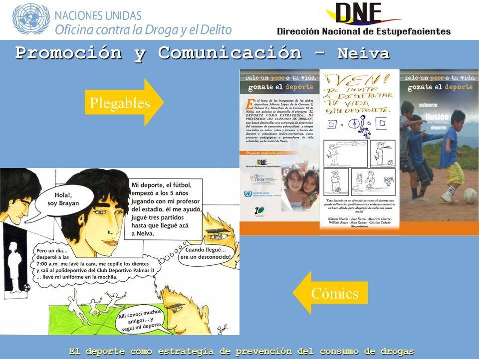 El deporte como estrategia de prevención del consumo de drogas Promoción y Comunicación - Neiva Plegables Cómics
