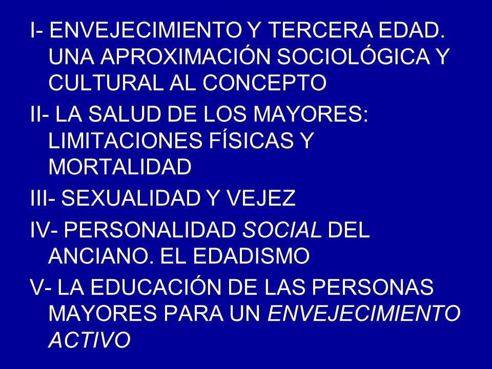 I.ENVEJECIMIENTO Y TERCERA EDAD.