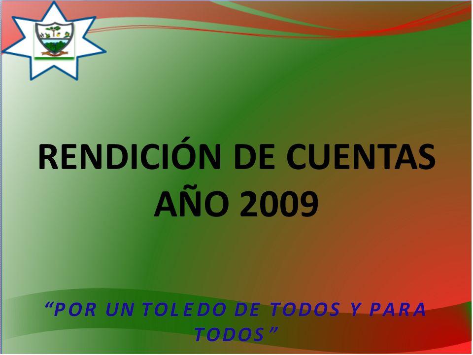 RENDICIÓN DE CUENTAS AÑO 2009