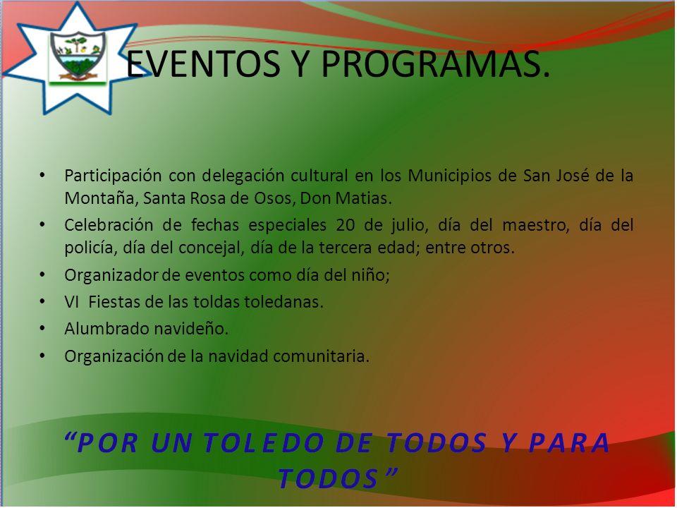 EVENTOS Y PROGRAMAS.