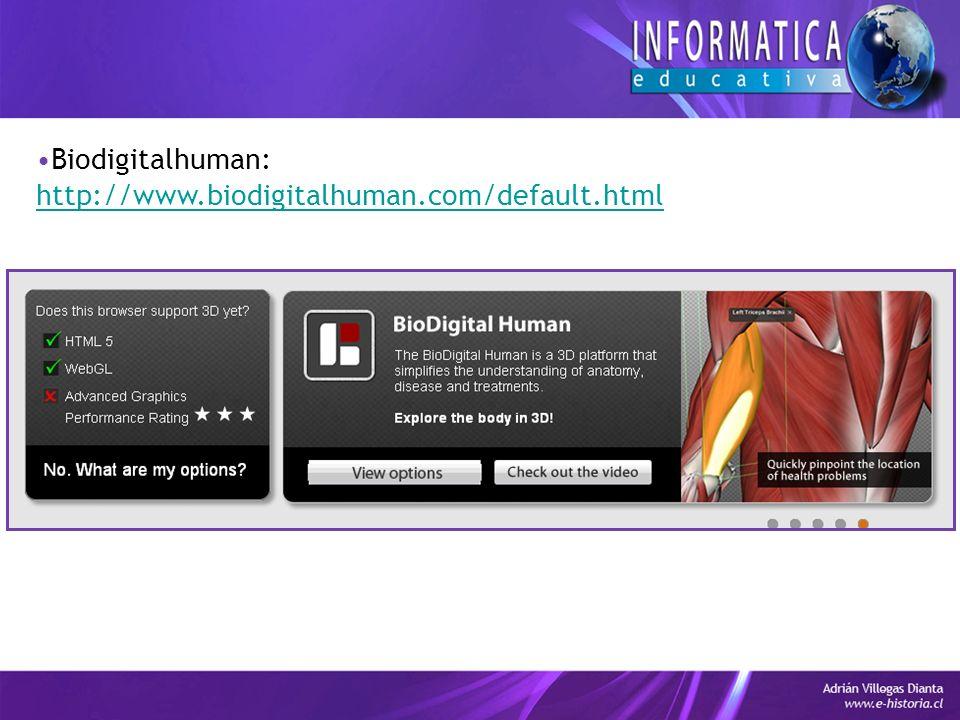 Biodigitalhuman: http://www.biodigitalhuman.com/default.html
