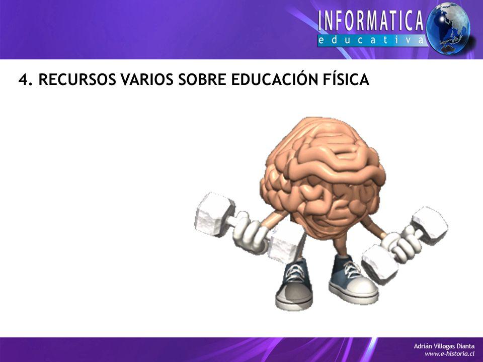 4. RECURSOS VARIOS SOBRE EDUCACIÓN FÍSICA