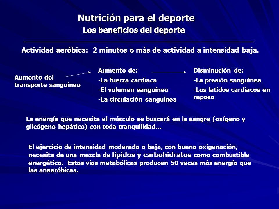 Bioenergética del deporte Nutrición: fuentes de energía El alimento es el combustible que produce la energía del movimiento: La energía es medida en unidades de calorías (cal).