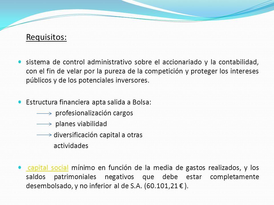 LOS CLUBES DE FUTBOL Y LA BOLSA Desde 1 Enero de 2001, clubes españoles con forma SAD pueden cotizar en Bolsa.