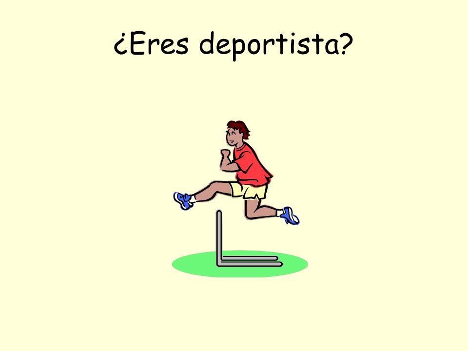 ¿Eres deportista
