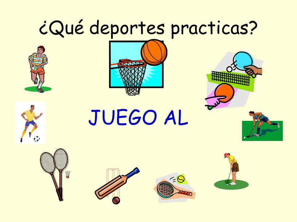¿Qué deportes practicas JUEGO AL