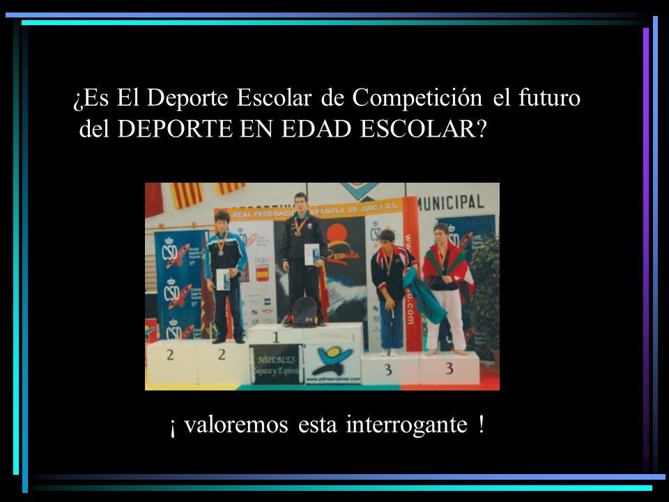 ¿Es El Deporte Escolar de Competición el futuro del DEPORTE EN EDAD ESCOLAR? ¡ valoremos esta interrogante !