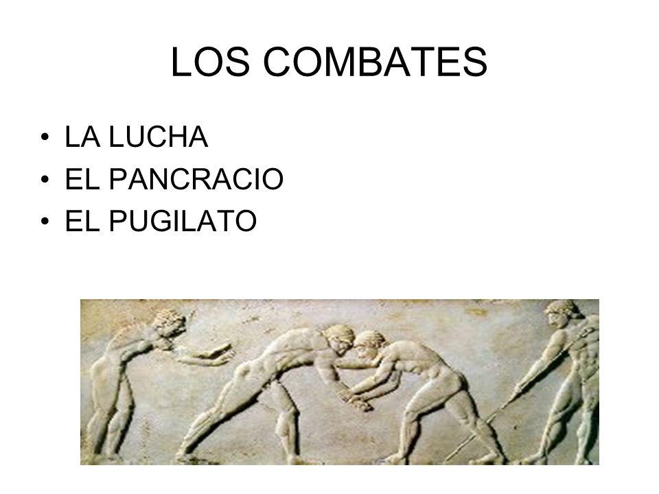 LA LUCHA La lucha era una parte integrante del pentatlón, pero también existía como prueba independiente.