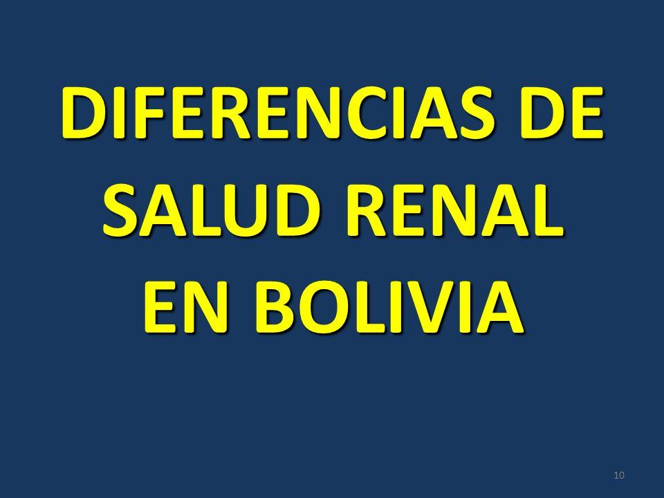 DIFERENCIAS DE SALUD RENAL EN BOLIVIA 10