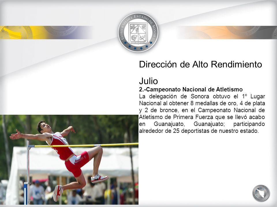 Dirección de Desarrollo del Deporte VILLA DE ALTO RENDIMIENTO Y CEDAR Actividades de los meses de Julio, Agosto y Septiembre del 2009.