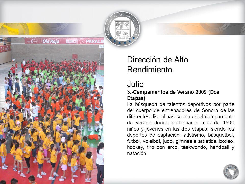 Dirección de Alto Rendimiento Julio 4.-Campeonatos Nacionales de Beisbol Los equipos de Sonora de la categoría iniciación (7-8 años) e Infantil Menor (9-10), obtuvieron los títulos nacionales en los torneos que se llevaron acabo en Puebla y Veracruz, respectivamente y que son convocados por la Federación Mexicana de Beisbol.