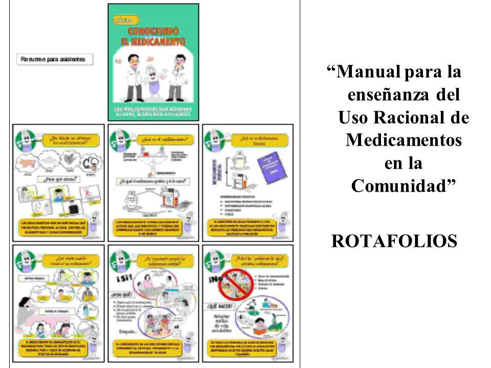 Manual para la enseñanza del Uso Racional de Medicamentos en la Comunidad ROTAFOLIOS