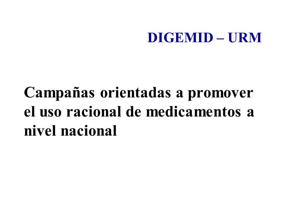 Campañas orientadas a promover el uso racional de medicamentos a nivel nacional DIGEMID – URM