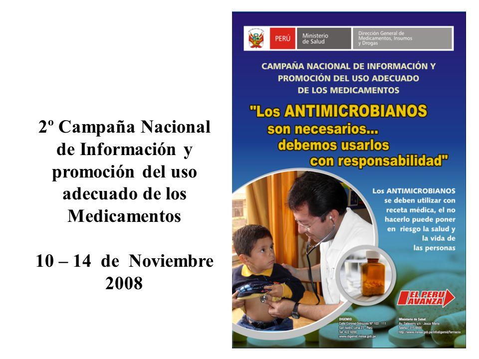 2º Campaña Nacional de Información y promoción del uso adecuado de los Medicamentos 10 – 14 de Noviembre 2008
