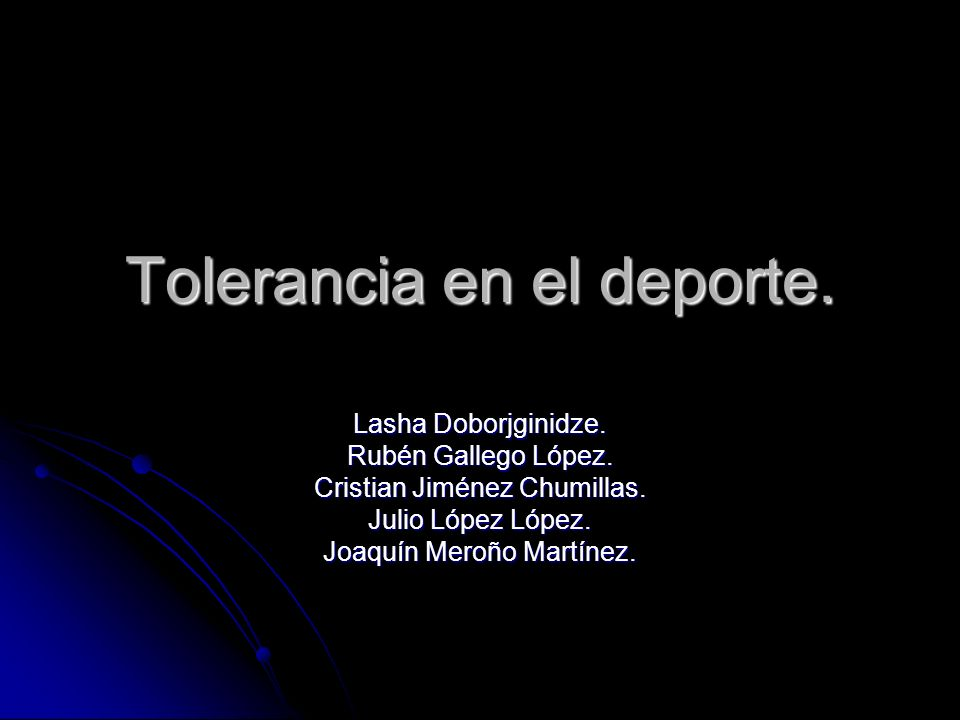 Tolerancia en el deporte.Lasha Doborjginidze. Rubén Gallego López.