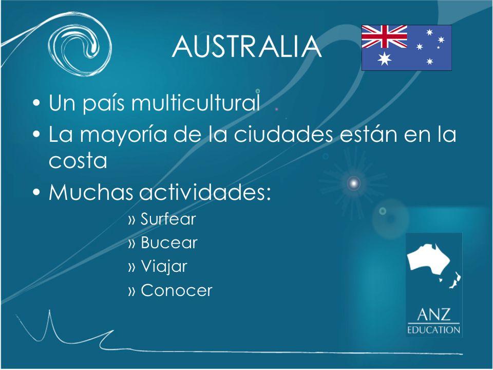 AUSTRALIA Australia es el tercer mejor país para vivir del mundo Sydney, Adelaide, Perth y Brisbane están entre las ocho mejores ciudades para vivir del mundo y Melbourne esta en el primer lugar.