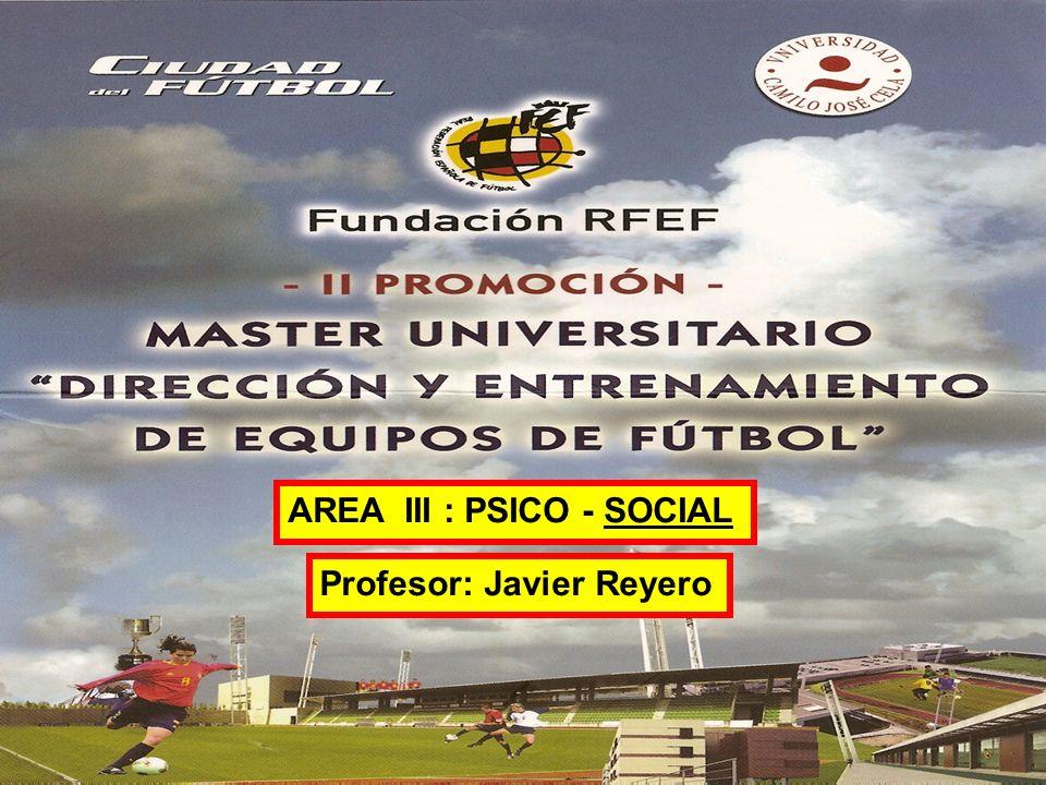 consultora especializada en el sector audiovisual AREA III : PSICO - SOCIAL Profesor: Javier Reyero