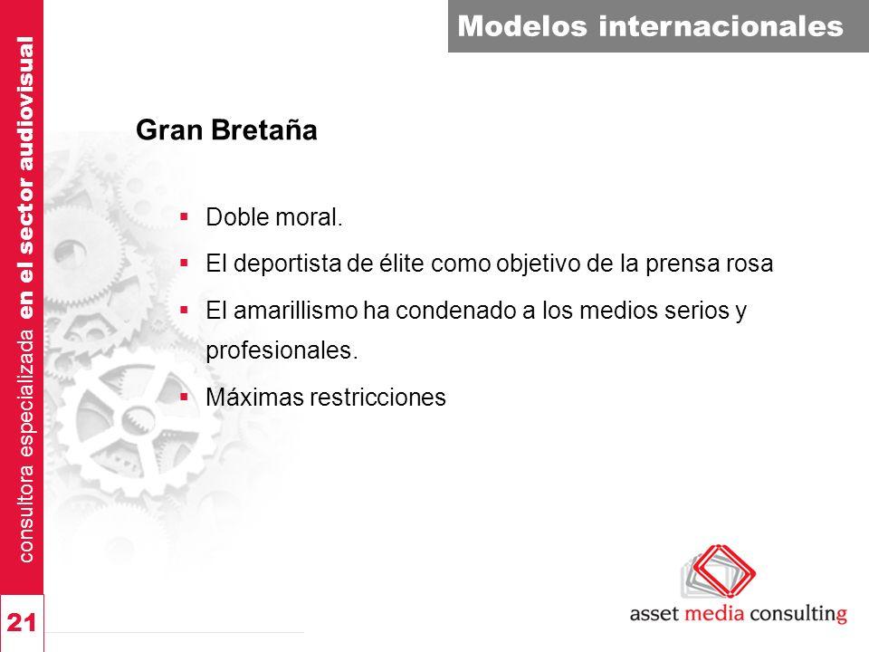 consultora especializada en el sector audiovisual 21 Modelos internacionales Gran Bretaña Doble moral.