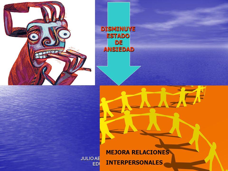 JULIO ABDALA M. - PROFESOR EDUCACION FISICA DISMINUYEESTADODEANSIEDAD MEJORA RELACIONES INTERPERSONALES