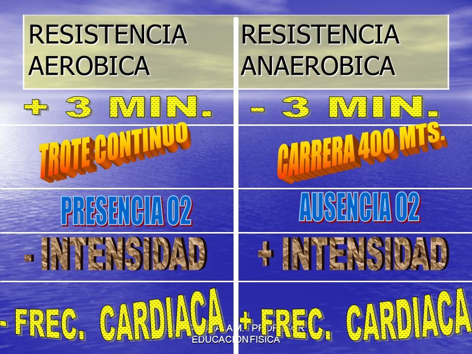 JULIO ABDALA M. - PROFESOR EDUCACION FISICA RESISTENCIA AEROBICA RESISTENCIA ANAEROBICA