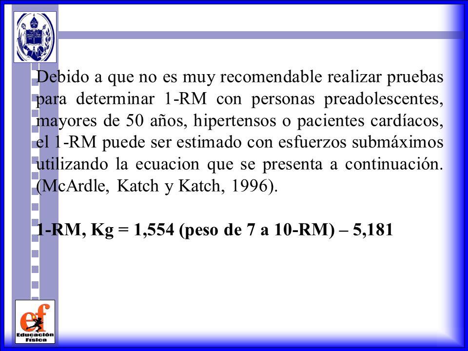 Para desarrollar fuerza 80 kg ------------ 100% X ------------ 60% X = 80 kg x 60% 100% X = 48 kg Para desarrollar fuerza este individuo deberá trabaj