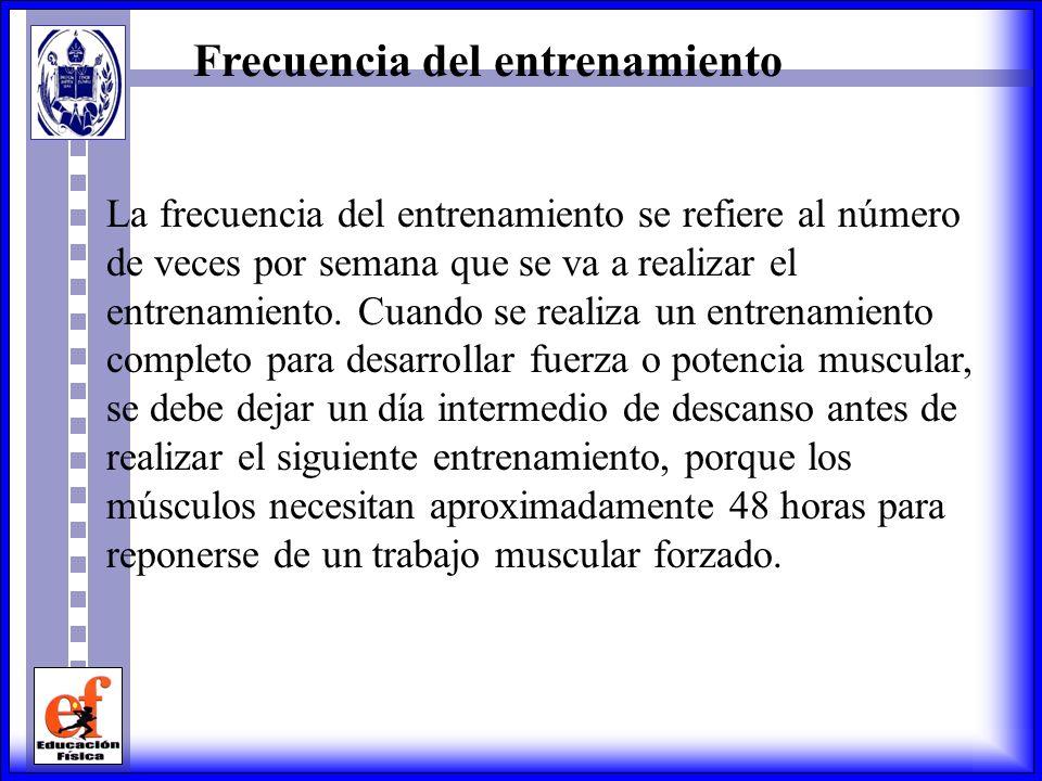 Potencia Muscular Para desarrollar la potencia muscular se pueden usar dos variantes: a) realizar de 3 a 5 series de 3 a 6 repeticiones a alta velocid