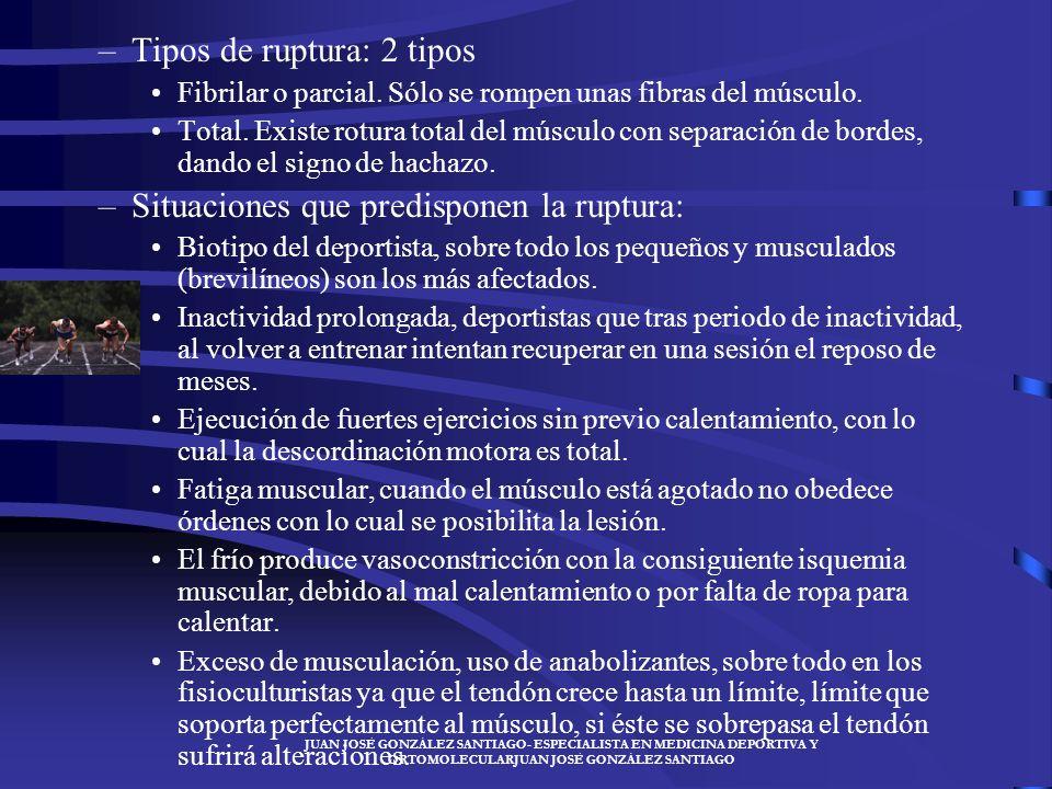 JUAN JOSÉ GONZÁLEZ SANTIAGO- ESPECIALISTA EN MEDICINA DEPORTIVA Y ORTOMOLECULARJUAN JOSÉ GONZÁLEZ SANTIAGO –Sintomatología: Dolor agudo, como un latig