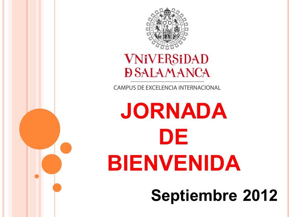 JORNADA DE BIENVENIDA Septiembre 2012