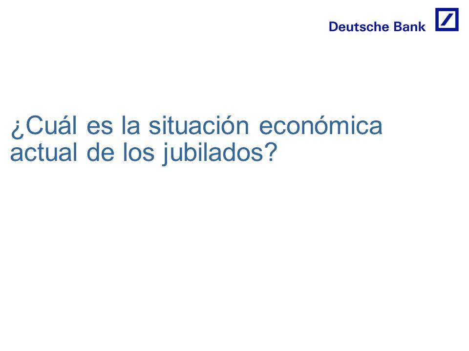 ¿Cuál es la situación económica actual de los jubilados?