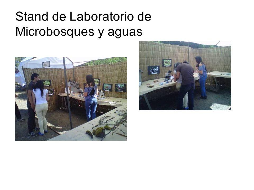 Stand de Laboratorio de Microbosques y aguas