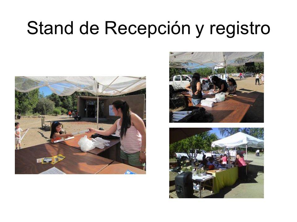 Stand de Recepción y registro