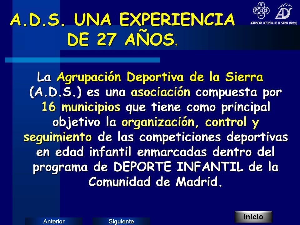 SiguienteAnterior A.D.S. UNA EXPERIENCIA DE 27 AÑOS.