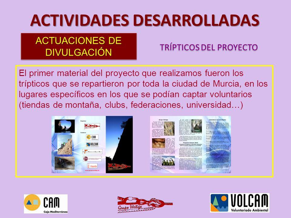 El primer material del proyecto que realizamos fueron los trípticos que se repartieron por toda la ciudad de Murcia, en los lugares específicos en los