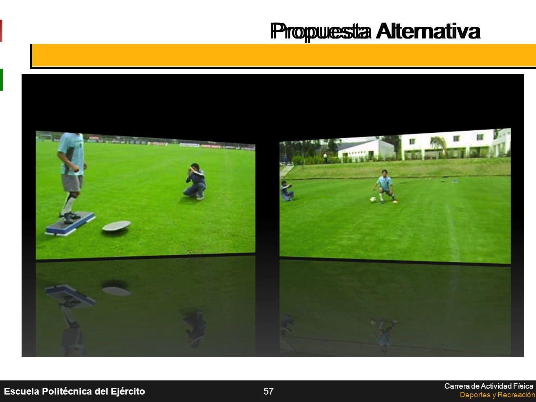 Escuela Politécnica del Ejército Carrera de Actividad Física Deportes y Recreación 57 Propuesta Alternativa