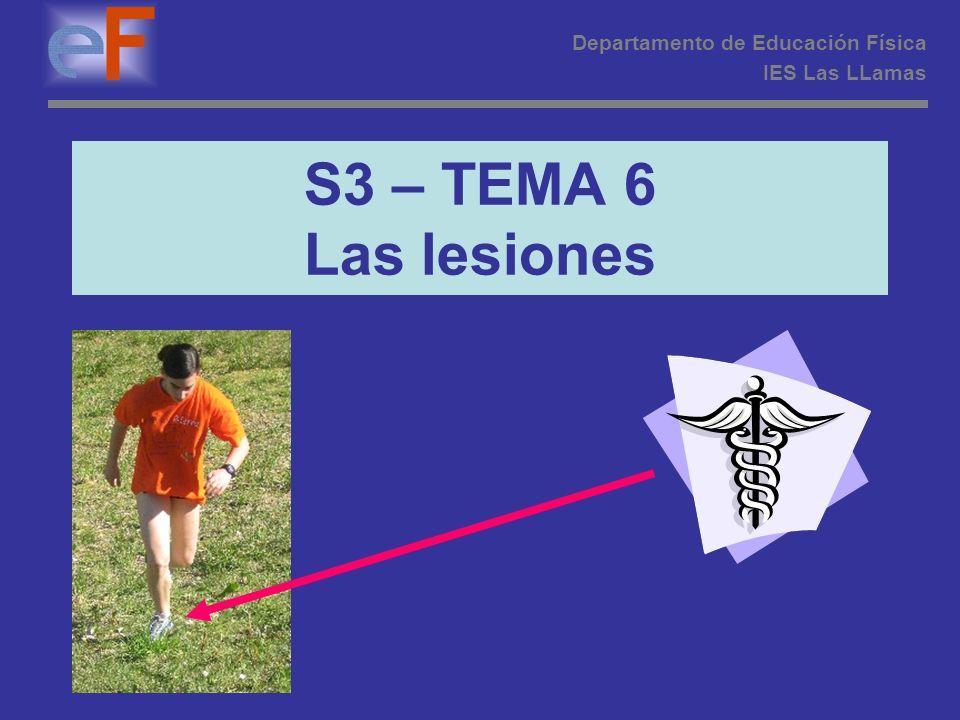 S3 – TEMA 6 Las lesiones Departamento de Educación Física IES Las LLamas