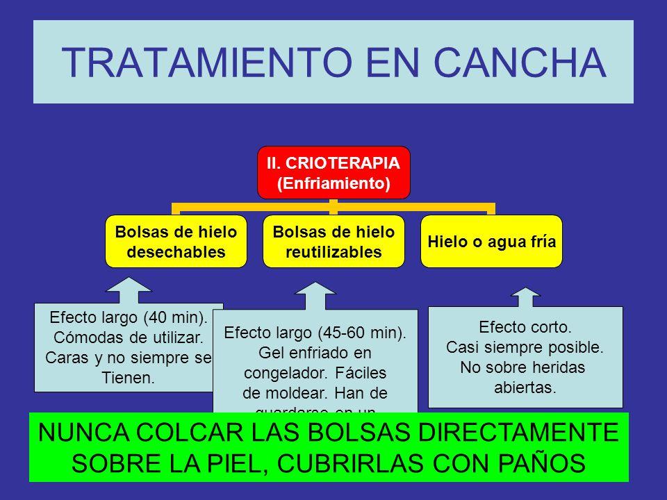 TRATAMIENTO EN CANCHA II.