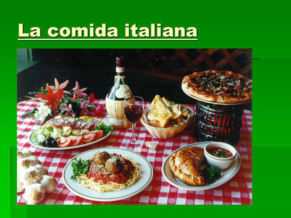 La comida italiana