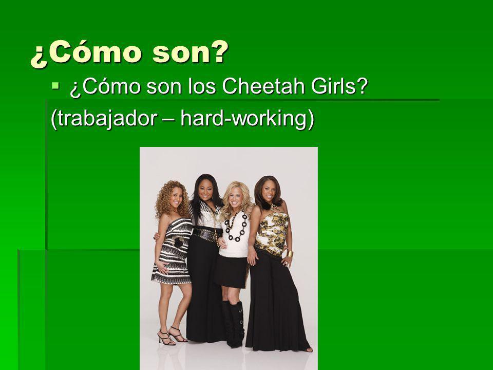 ¿Cómo son? ¿Cómo son los Cheetah Girls? ¿Cómo son los Cheetah Girls? (trabajador – hard-working)