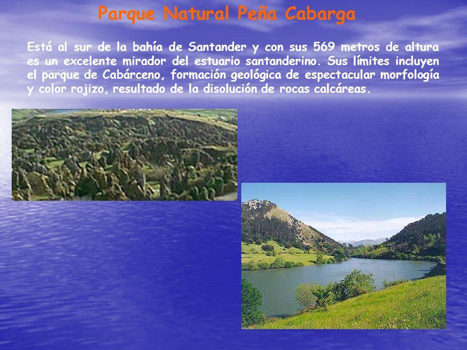 Parque Natural Peña Cabarga Está al sur de la bahía de Santander y con sus 569 metros de altura es un excelente mirador del estuario santanderino. Sus