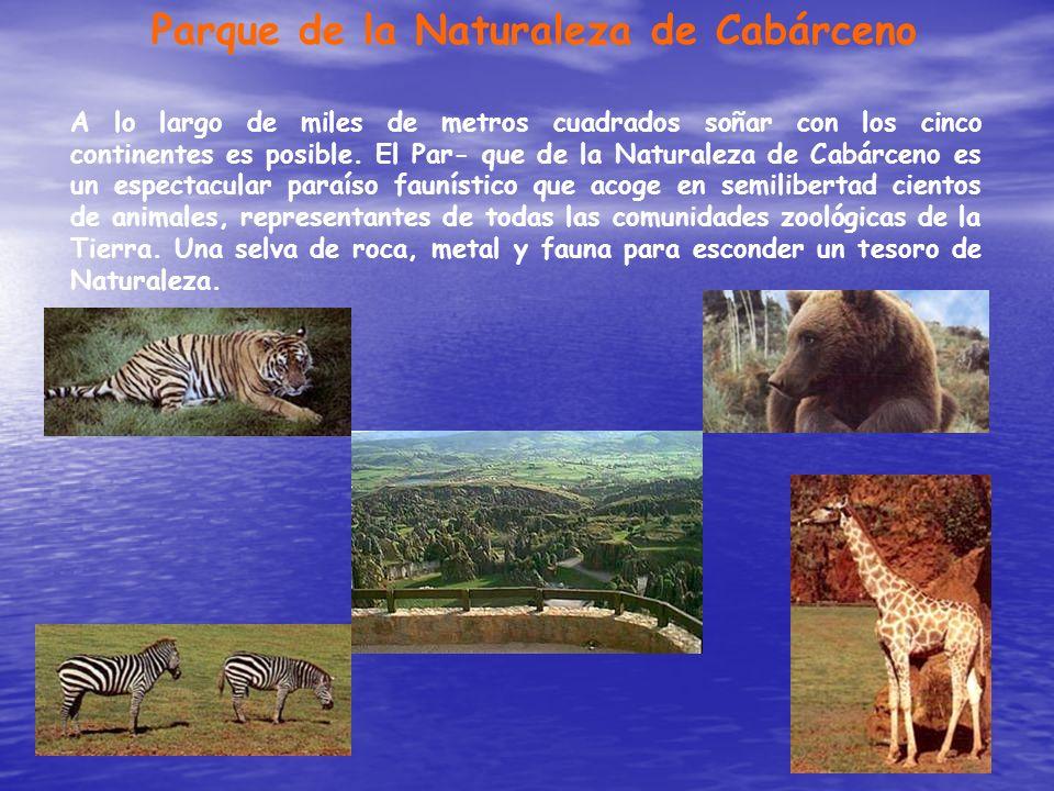 Parque de la Naturaleza de Cabárceno A lo largo de miles de metros cuadrados soñar con los cinco continentes es posible. El Par- que de la Naturaleza