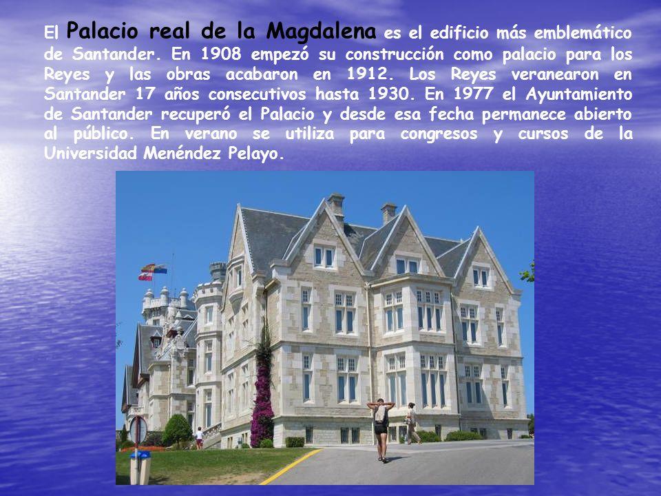 El Palacio real de la Magdalena es el edificio más emblemático de Santander. En 1908 empezó su construcción como palacio para los Reyes y las obras ac