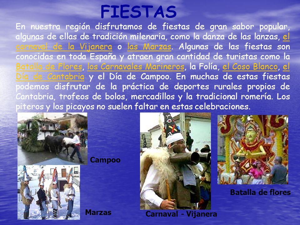 FIESTAS En nuestra región disfrutamos de fiestas de gran sabor popular, algunas de ellas de tradición milenaria, como la danza de las lanzas, el carna