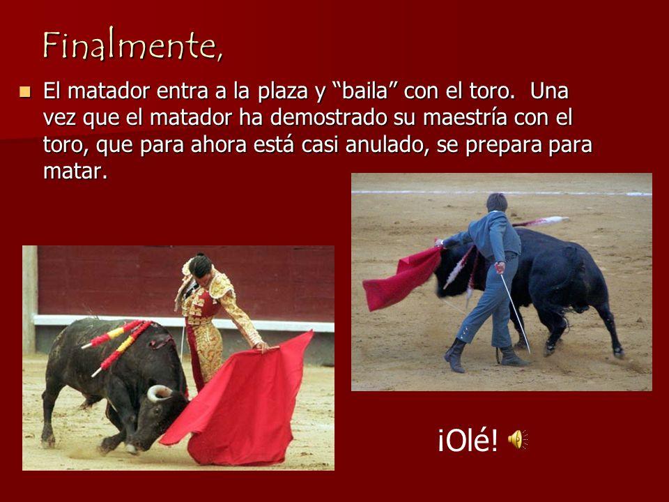 Entonces… el toro recibe una serie de puyazos en el morrillo por parte del picador. El objetivo de estos puyazos es medir la bravura del toro y su dis