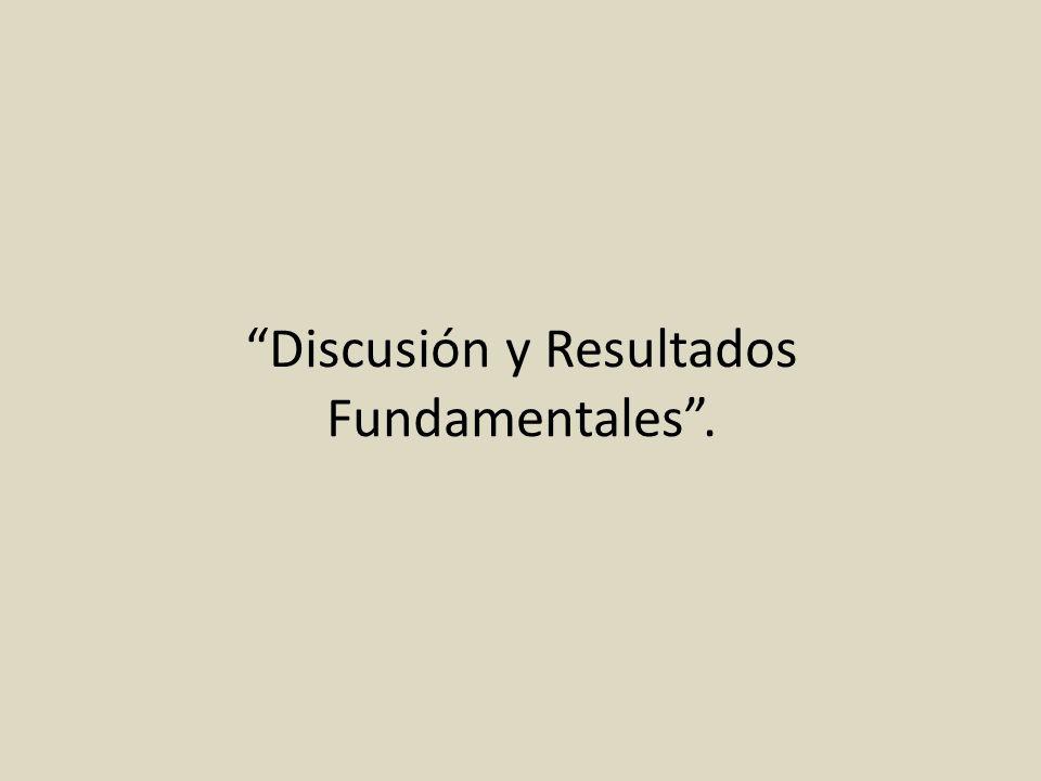 Discusión y Resultados Fundamentales.