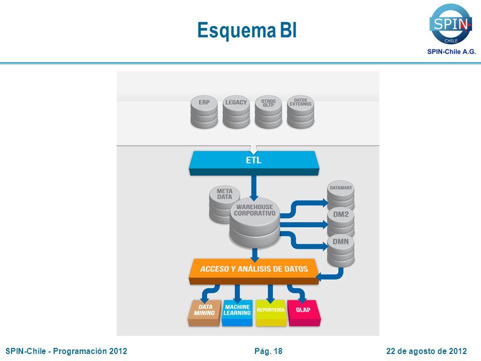 Esquema BI 22 de agosto de 2012SPIN-Chile - Programación 2012Pág. 18
