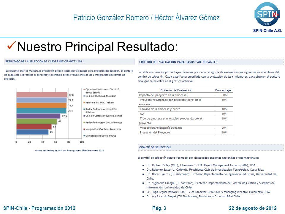 22 de agosto de 2012SPIN-Chile - Programación 2012Pág.