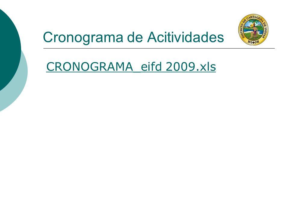 Cronograma de Acitividades CRONOGRAMA_eifd 2009.xls