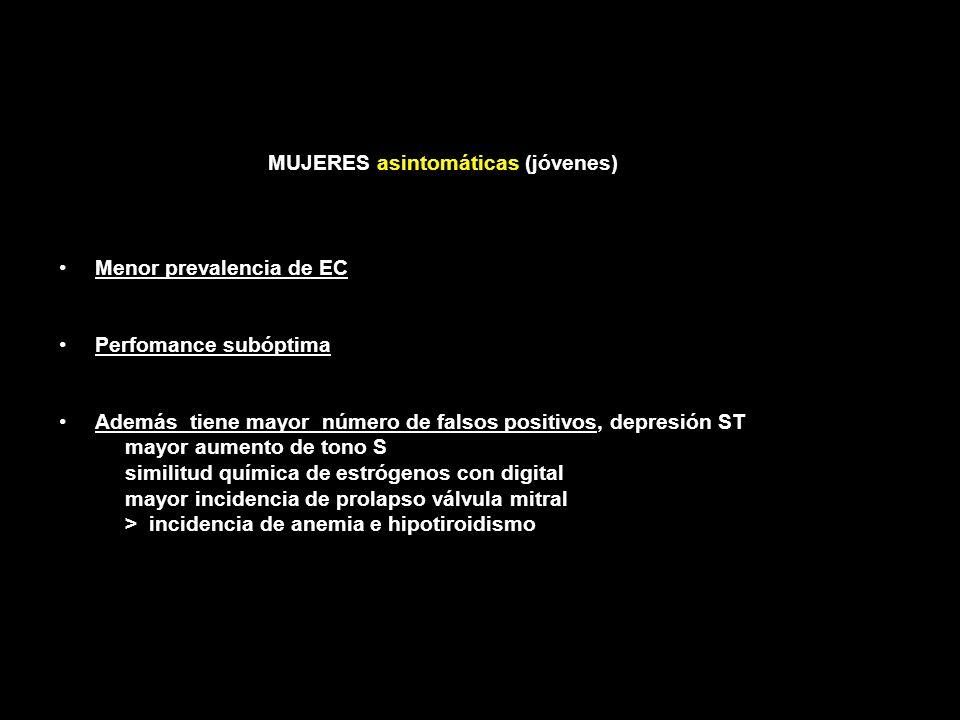ERGOMETRÍA Pacientes excluídos Claudicación muscular, artritis, enf pulmonar, Falta de aptitud : menor S con un esfuerzo submáximo Alteraciones ECG pr