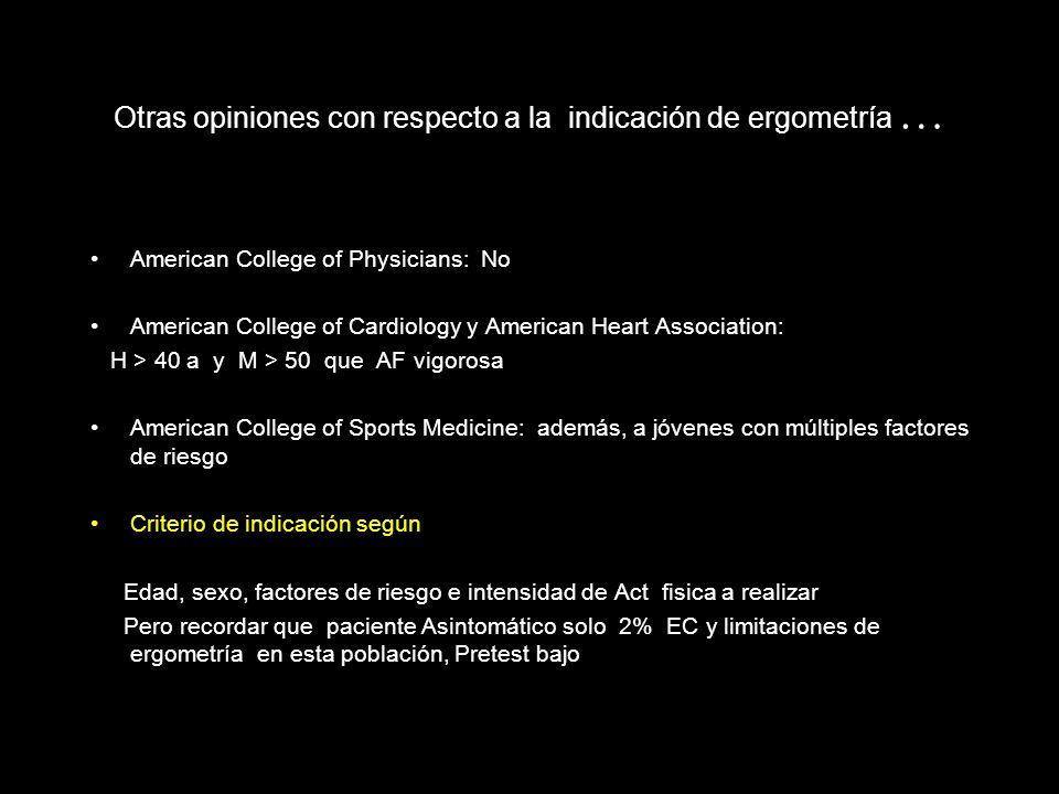 USPSTF Recomendación I para indicar como screening de CI en individuos asintomáticos de alto riesgo. Recomendación A para no recomendar en asintomátic