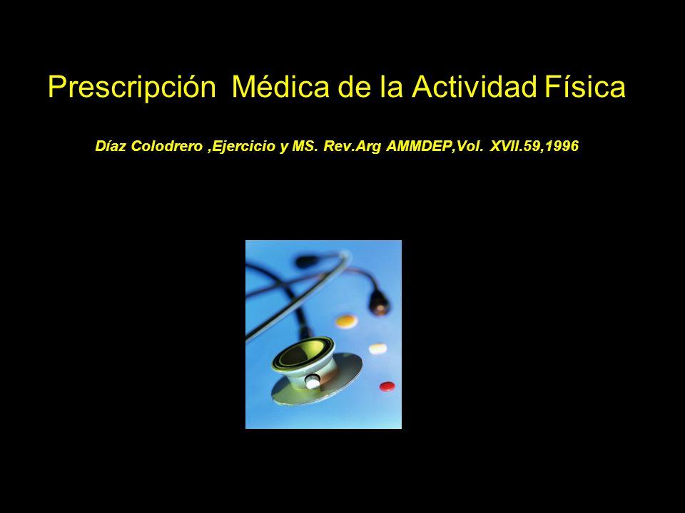 EL MEDICO DEBE APRENDER A PRESCRIBIR LA ACTIVIDAD FISICA Y NO HACER CERTIFICADOS DE FAVOR …